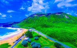 Piaskowatej plaży park Hawaje Obraz Stock