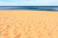 Piaskowatej plaży lata marzyć Fotografia Stock