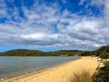 Piaskowaty brzeg Coalmine plaża, Nornalup wpust w Walpole, Austra fotografia royalty free