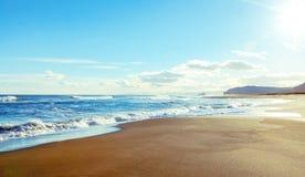 Piaskowaty oceanu wybrzeże Fotografia Royalty Free