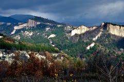 piaskowaty panorama halny ostrosłup Zdjęcia Royalty Free