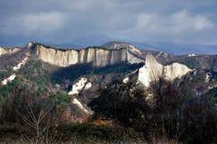 piaskowaty panorama halny ostrosłup Fotografia Stock