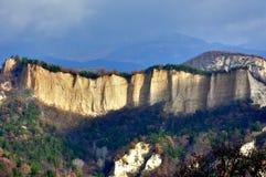 piaskowaty panorama halny ostrosłup Obrazy Royalty Free