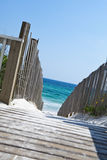piaskowaty plażowy boardwalk zdjęcia stock