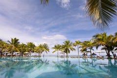 piaskowaty plażowy ocean Miesiąc miodowy na tropikalnej wyspie Mauritius Obrazy Royalty Free