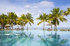 piaskowaty plażowy ocean Miesiąc miodowy na tropikalnej wyspie Mauritius Fotografia Stock