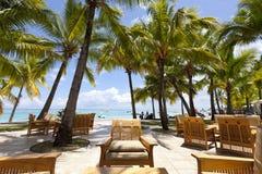 piaskowaty plażowy ocean Miesiąca miodowego o tropikalna wyspa Mauritius Zdjęcia Stock