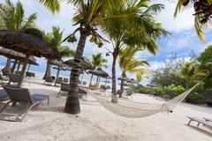 piaskowaty plażowy ocean Miesiąca miodowego o tropikalna wyspa Mauritius Obraz Royalty Free