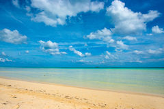 piaskowaty plażowy ocean Obrazy Royalty Free