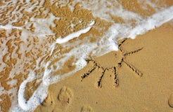 Piaskowaty słońce Fotografia Royalty Free
