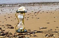 piaskowaty tła hourglass zdjęcia royalty free