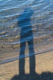 Piaskowaty trawiasty brzeg jezioro Obrazy Stock