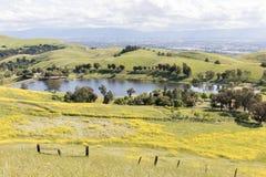 Piaskowaty Wełna jezioro i Santa Clara dolina przy wiosną Obrazy Stock