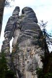 Piaskowcowe Adrspach-Teplice skały Obrazy Royalty Free