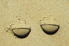 piaskowe statków zdjęcie royalty free