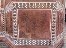 Piaskowiec ściana antyczny fort zdjęcia royalty free