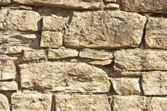 Piaskowiec ściana z pogodową erozją Fotografia Stock
