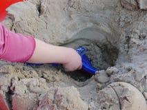 Piaskownicy dziecka bawić się Zdjęcie Stock