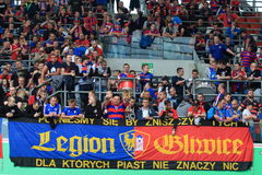 Piast Gliwice fans royalty free stock photo