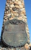 Piastra commemorativa del monumento di Fetterman Fotografie Stock