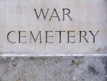 Piastra del cimitero di guerra Fotografia Stock