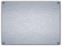 Piastra di metallo d'acciaio spazzolata Fotografia Stock