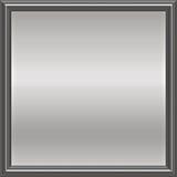 Piastra incorniciata metallo d'argento Fotografie Stock