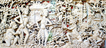 Piastra indù della parete Immagini Stock