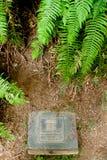 Piastra originale di Geocache dello Stash Immagini Stock Libere da Diritti