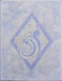 Piastrella di ceramica blu dell'evidenziatore Immagini Stock Libere da Diritti