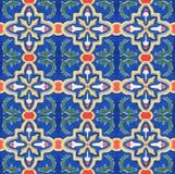 Piastrella di ceramica marocchina dell'annata di stile di Spanich Fotografie Stock