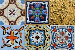 Piastrella di ceramica marocchina dell'annata di stile di Spanich Fotografia Stock Libera da Diritti