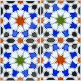 Piastrella di ceramica senza cuciture nello stile andaluso spagnolo fotografia stock libera da diritti