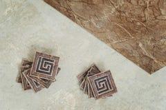 Piastrella di ceramica sul pavimento Fotografia Stock