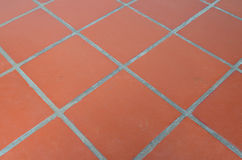 Piastrella per pavimento arancio Fotografia Stock Libera da Diritti