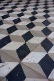 piastrella per pavimento del controllore del cubo 3D vecchia Immagini Stock Libere da Diritti