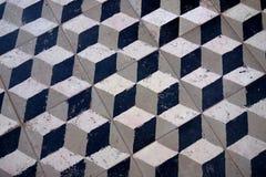 piastrella per pavimento del cubo 3D vecchia Fotografie Stock Libere da Diritti