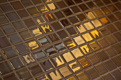 Piastrellatura dorata Fotografie Stock Libere da Diritti