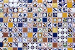 Piastrelle di ceramica fatte a mano messicane Immagine Stock Libera da Diritti