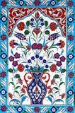Piastrelle di ceramica floreali Fotografia Stock Libera da Diritti
