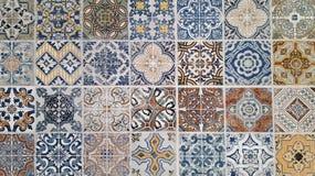 Piastrelle di ceramica nello stile orientale immagine stock