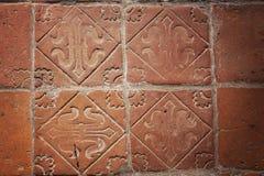 Piastrelle per pavimento medievali Fotografia Stock