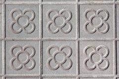 Piastrelle per pavimento tipiche di Barcellona Immagine Stock Libera da Diritti
