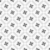 Piastrelli il modello decorativo grigio e bianco di vettore delle piastrelle per pavimento Fotografia Stock Libera da Diritti