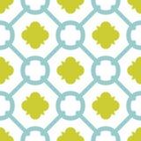 Piastrelli il modello decorativo verde e blu di vettore delle piastrelle per pavimento Fotografie Stock Libere da Diritti
