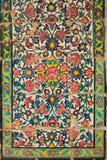 Piastrelli il pannello, khan medrese, Shiraz, Iran Immagine Stock