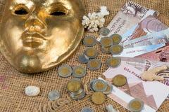 Piastres, Egito Sinai África, libras egípcias imagem de stock