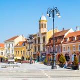 Piata的Sfatului-东正教中心  免版税图库摄影