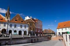 Piata Glimmer - Sibiu Stockfotos