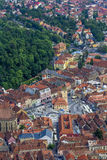 Piata Sfatului, Brasov. This is Piata Sfatului, the center of Brasov city. It is one of the most visited places in Romania. The shot was taken from a nearby Royalty Free Stock Images